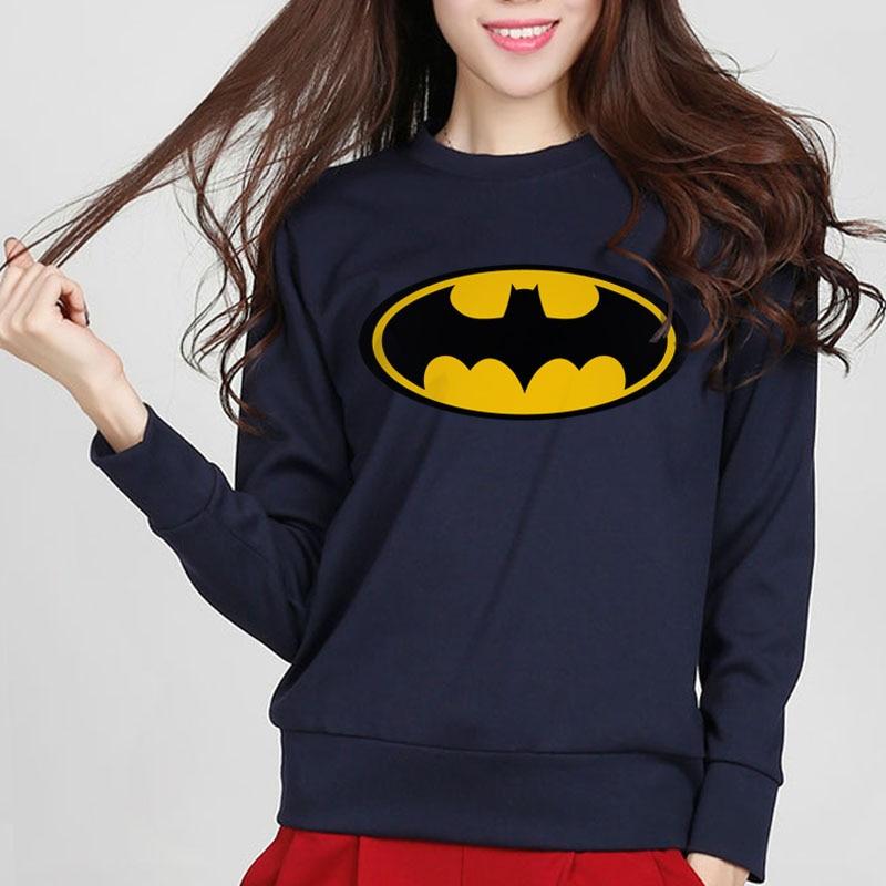 2020 New Autumn Fashion Cartoon Batman Printed Female Sweatshirt Hoodies Slim Tracksuit Women Harajuku Brand Kawaii Punk Hoody