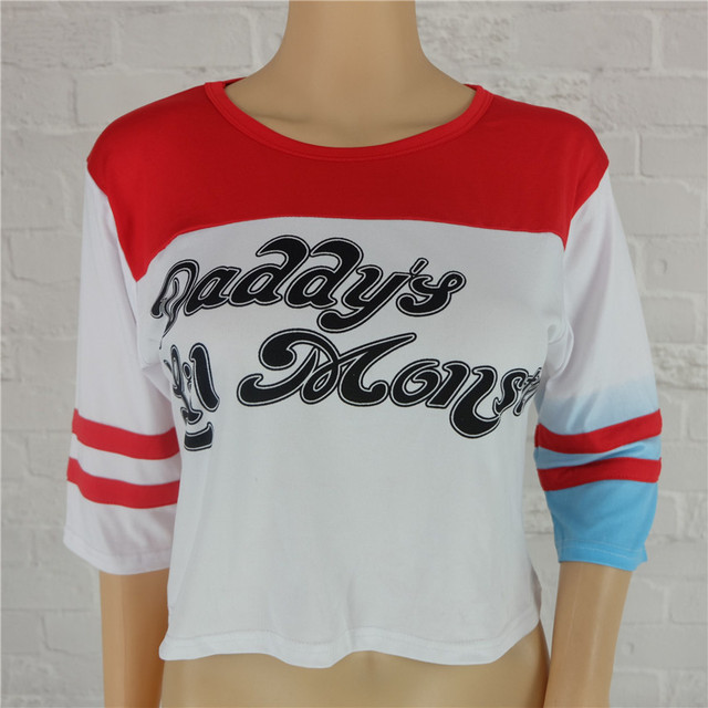 """Suicide Squad- Harley Quinn """"Daddy's Lil Monster"""" T Shirt (2 Types)"""