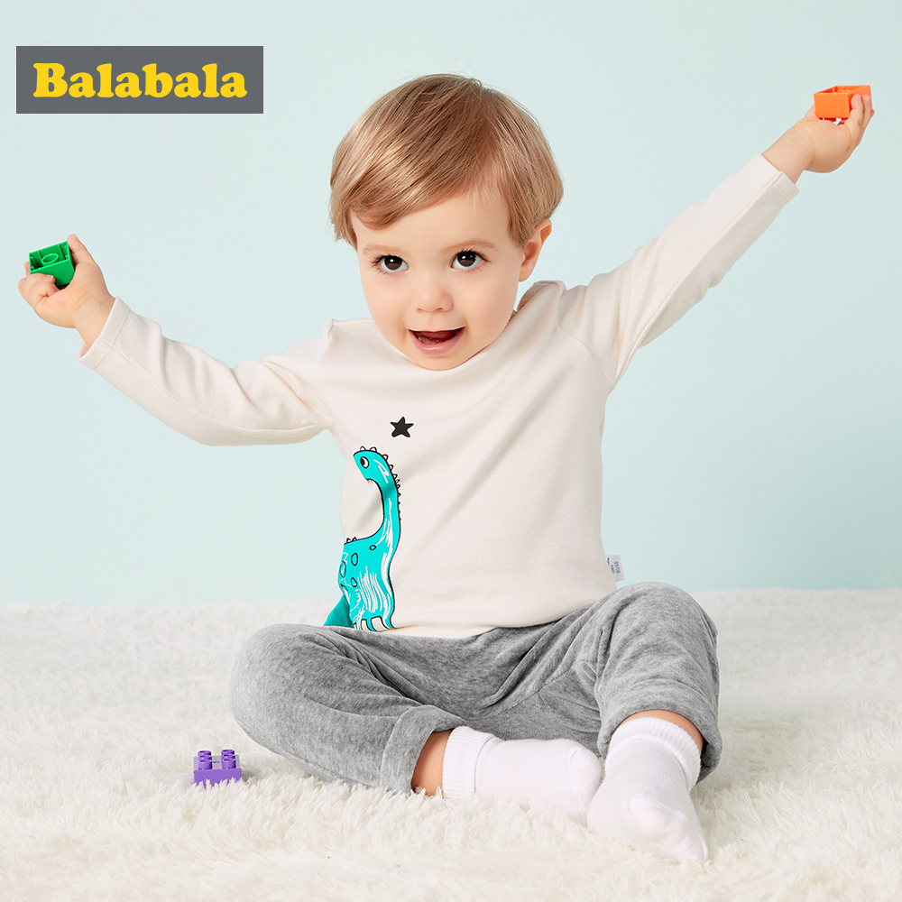 T-Shirts Dinosaur-Pattern Long-Sleeve Infant Baby-Boys Cotton Casual for Simple Generous
