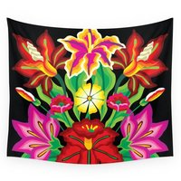 Mexican Exotic Flowers Wall Tapestry Wedding Party Gift Bedspread Beach Towel Yoga Picnic Mat