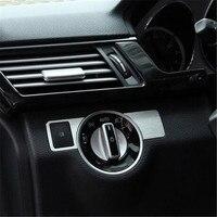Aluminium Alloy Car Headlight Swith Cover Trim Sticker For Mercedes Benz A Class/B Class/C Class/E Class/GLK/GL/ML/CLS