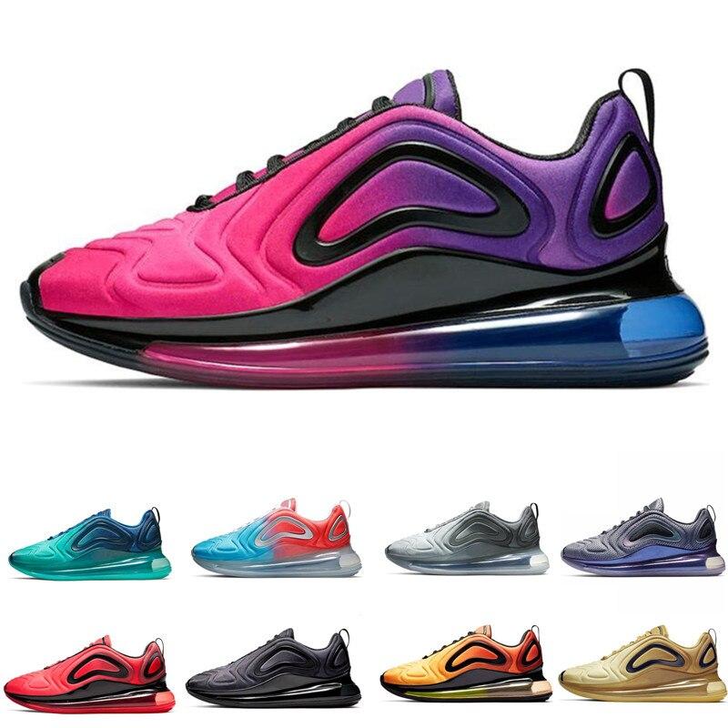 720 chaussures de course hommes femmes aurores boréales noir blanc désert Sunrise Sunset 2019 chaussures de Sport baskets baskets taille 40-45