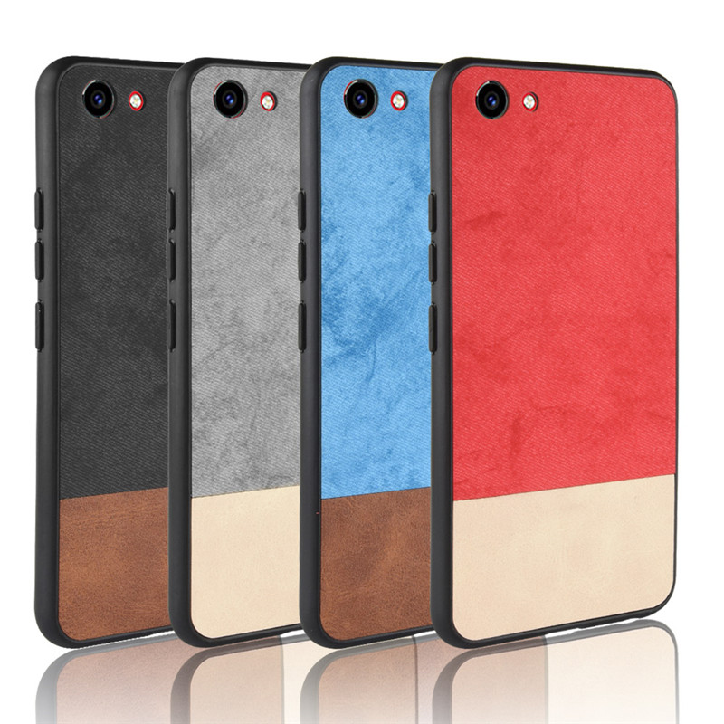Vivo Y81 case cover For Vivo Y81 Y 81 VivoY81 Fabric Cover Case Silicone edge full Cover Back frosted Case