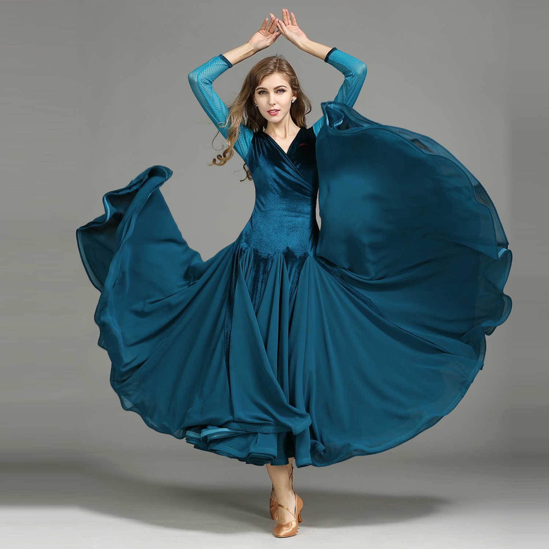 Мэй Ю MY750 современный танцевальный костюм женский взрослый вальцинг Танго бархатное танцевальное Платье Бальный костюм вечернее платье