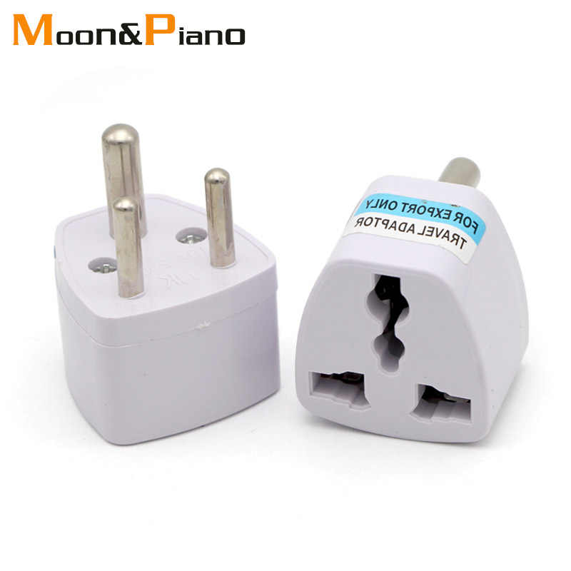 1PC 3 pin Universal UK/US/EU/AU to Small South Africa Plug India Travel Converter Adaptor AC Power Multi Outlet Adapter Socket