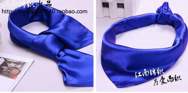 2015 Neue Ankunft Reine Solid Color Satin Seide Kleinen Quadratischen Schal 52 Cm X 52 Cm Stirnband Frauen/männer Kleid Zubehör Kragen Krawatte