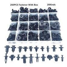 260 шт Универсальный смешанный автомобильный бампер крыло винт пластиковый крепеж зажим с коробкой набор для всех авто заклепок