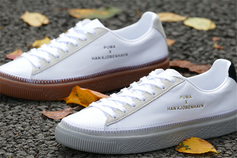 New Arrival PUMA Clyde Stitched HAN Men's shoes and women's Breathable Sneakers Badminton Shoes size36-44 new arrival puma clyde stitched han men s shoes and women s breathable sneakers badminton shoes size36 44