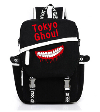 Anime Tokyo Ghoul Satchel Backpack School Bags Student Gift anime tokyo ghoul cosplay anime shoulder bag male and female middle school student travel leisure backpack page 1