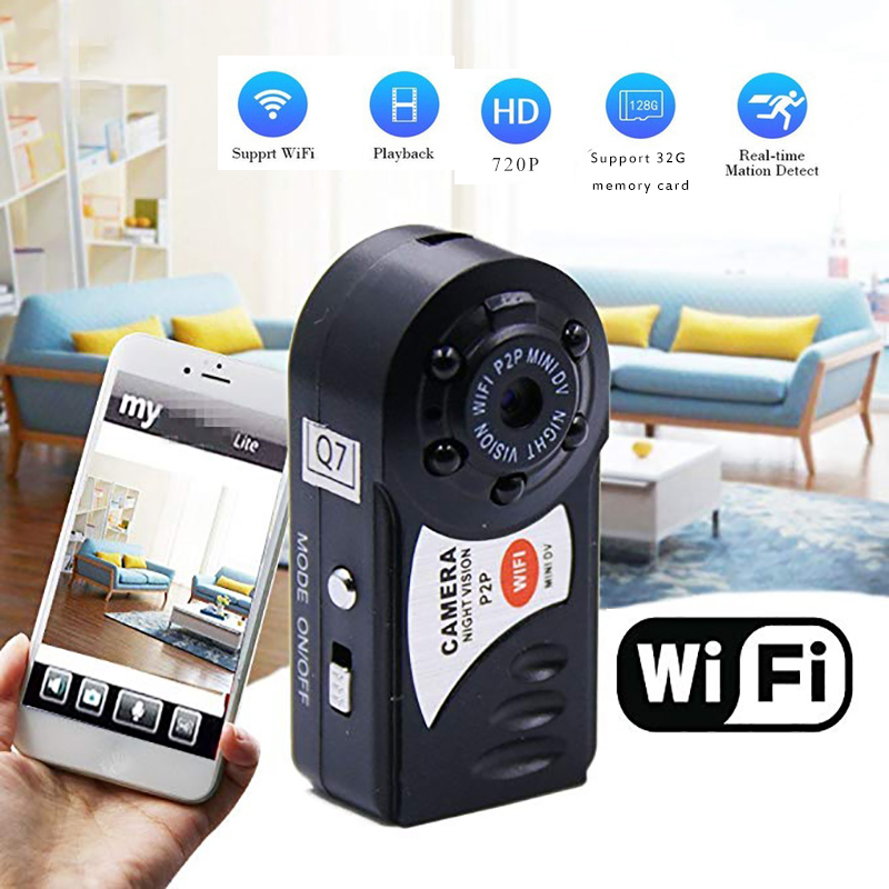 Mini Camera Q7 Micro DV Camcorder Action Night Vision Digital Sport DV Wireless Mini Voice Video TV Out Camera HD 720P