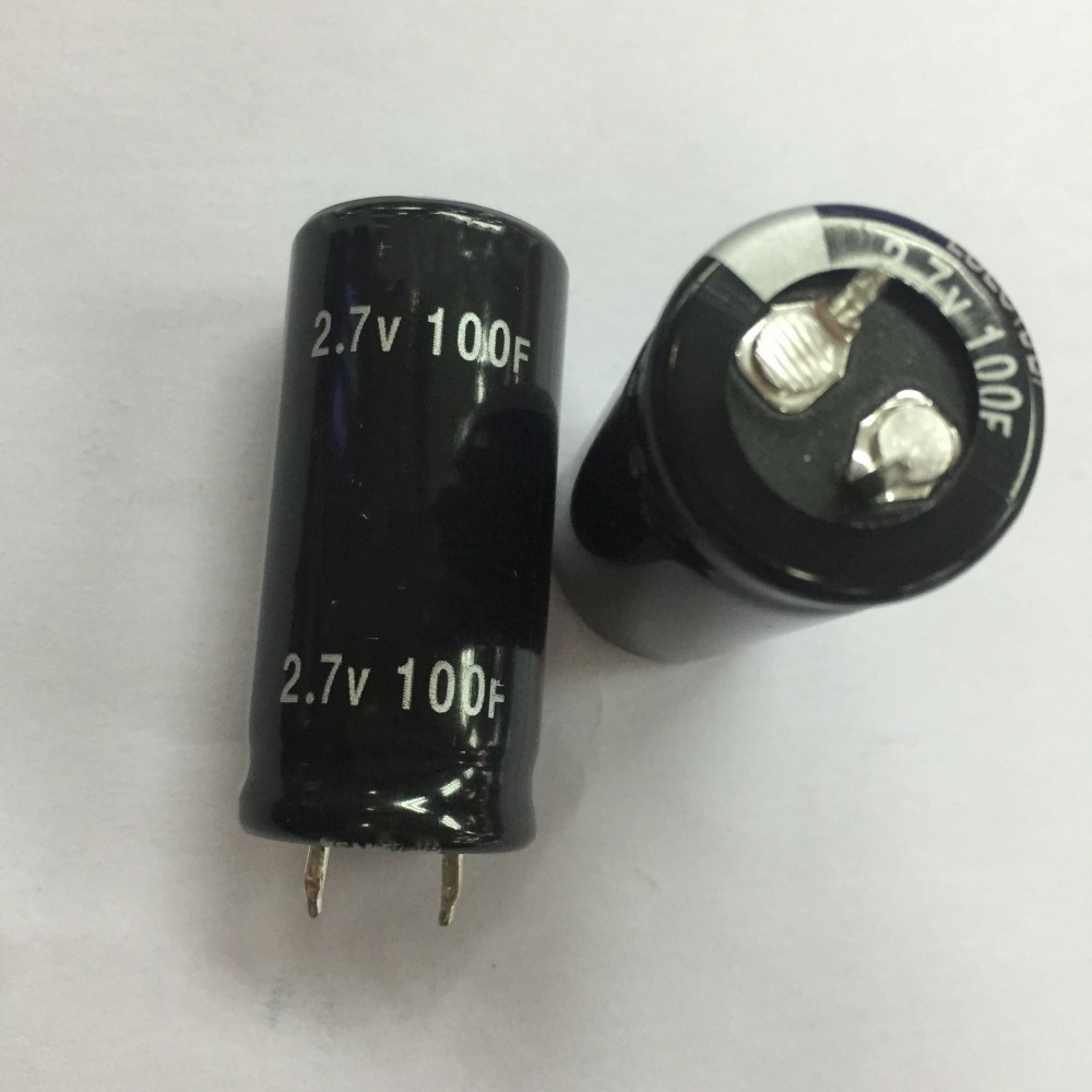 Free shipping 50PCS New and original Super Capacitor 2 7V 100F 2 7V100F 100f 2 7v