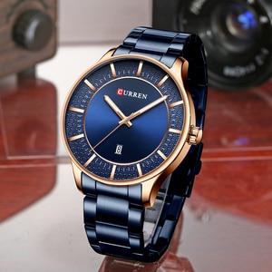 Image 5 - CURREN Relogio Masculino אופנה זכר שעון איש נירוסטה להקת שעון גברים קוורץ שעוני יד עם תאריך מקרית עסקי מתנה