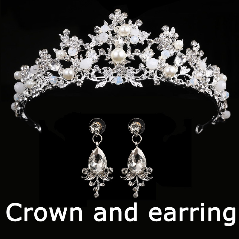 HTB1_0wUf9cqBKNjSZFgq6x_kXXaP Bridal Wedding Tiara Headband with Earrings