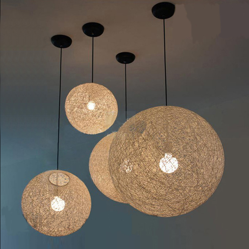 Buy Modern Wicker Ball Pendant Light By Bertjan Pot Creative Hanging Lighting  Lamp Light Fixture Round Ball Lustres Home Coffee Lamp From