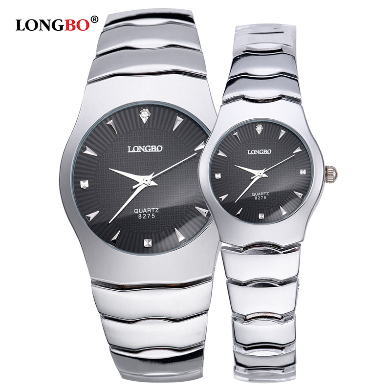 LONGBO Brand Men Women Lovers Brief Casual Quartz Crystal Stainless Steel WristWatch Luxury Watch Relogio Feminino Montre Femme