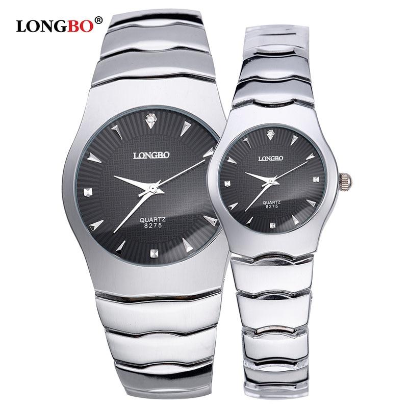 LONGBO Brand Men Women Lovers Brief Casual Quartz Crystal Stainless Steel WristWatch Luxury Watch Relogio Feminino Montre Femme