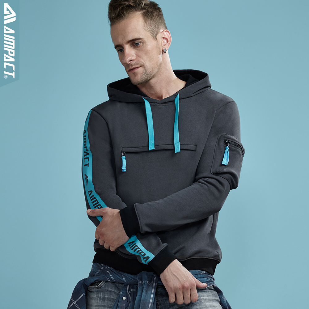 Aimpact 2018 New Causal Sweatshirt Hoodies Men Cotton Autumn Winter Pullovers College Streetwear Hoody Men Brand Clothing AM4003