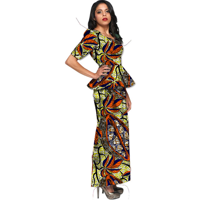 African Clothing Ankara Print Women Short Sleeve Tops With Skirts Gorgeous African Skirts Patterns
