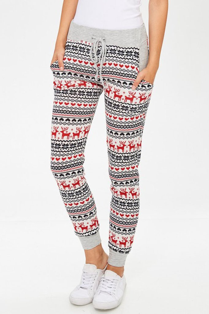 hot and American style spring winter Christmas cartoon ankle length leggings new casual comfortable female