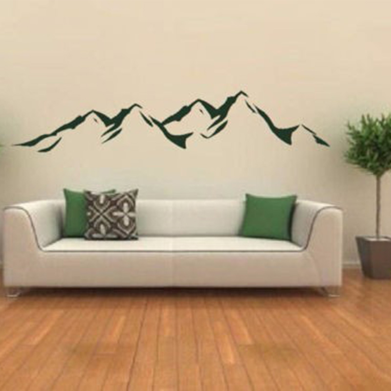 Mountains Modern Designe Vinyls Wall Decals Wall Stickers Art Wallpaper , Bedroom, Living Room Decoration Home Decor