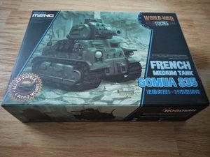 Image 2 - Meng WWT 009 French Medium Tank Somua S 35 Q Edition Plastic Assembly Model Kit Cute