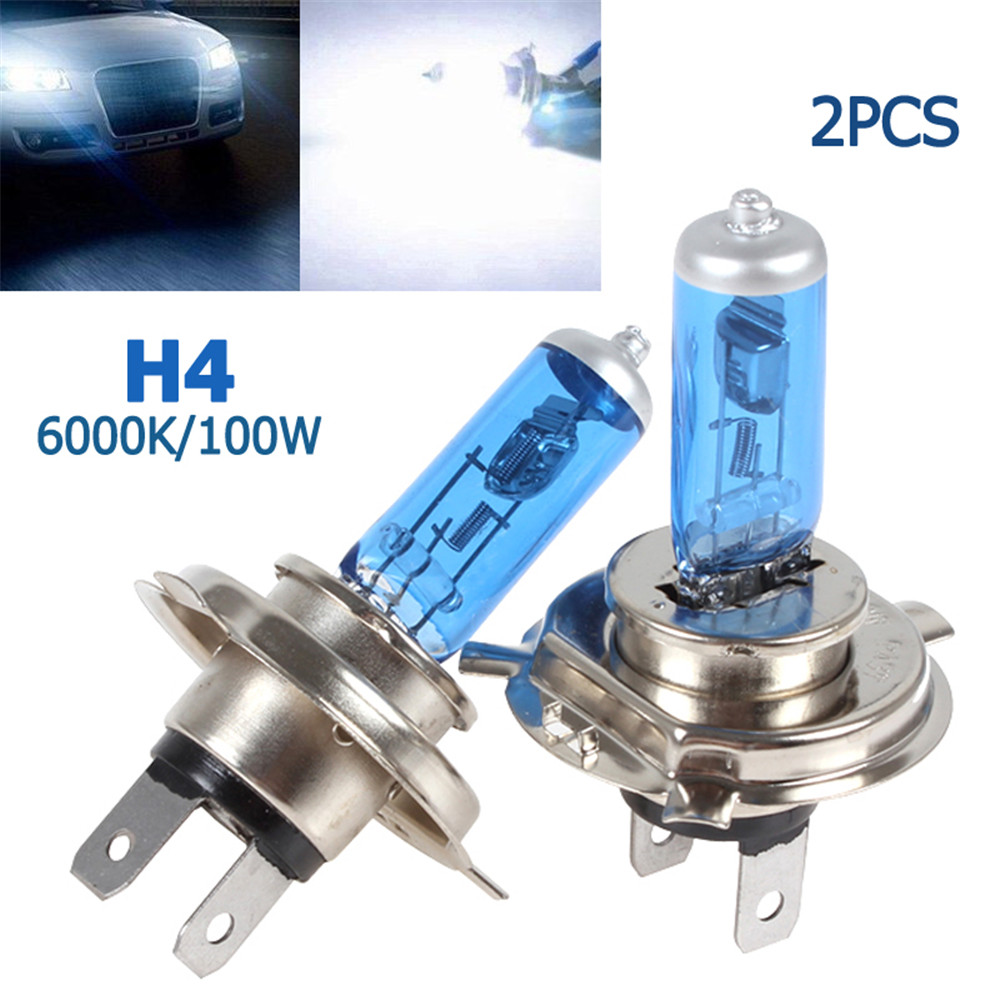 2x H4 Super Bright White Led Car Lights Bulbs Hid Xenon Halogen Fog Lights 100w 6000k 12v
