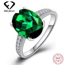 Sterling 925 Silver 18K Gold Diamond Close Ring for Women Emerald Zircon style Masonry Gemstone Christmas Jewelry Bague Anillos