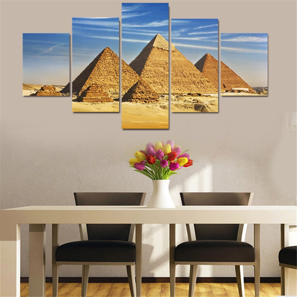 Online get cheap pyramid paintings for 5 piece mural