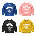 Spring autumn children T-shirt  Solid color Little beardtops Boys girls pure cotton sweatshirts Baby clothing kids Sweatshirts