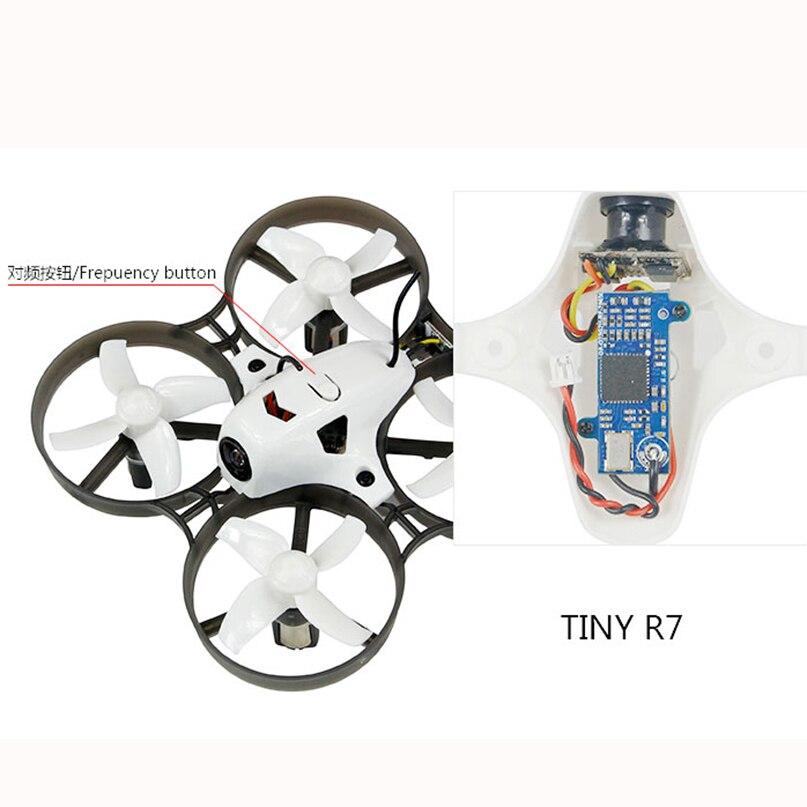 LDARC Q25G2H 5,8g 25 MW 16CH FPV VTX + 199C Combo & 800TVL 150 NTSC Mini cámara y Canopy para DIY Tiny R7 Whoop Inductrix RC Drone