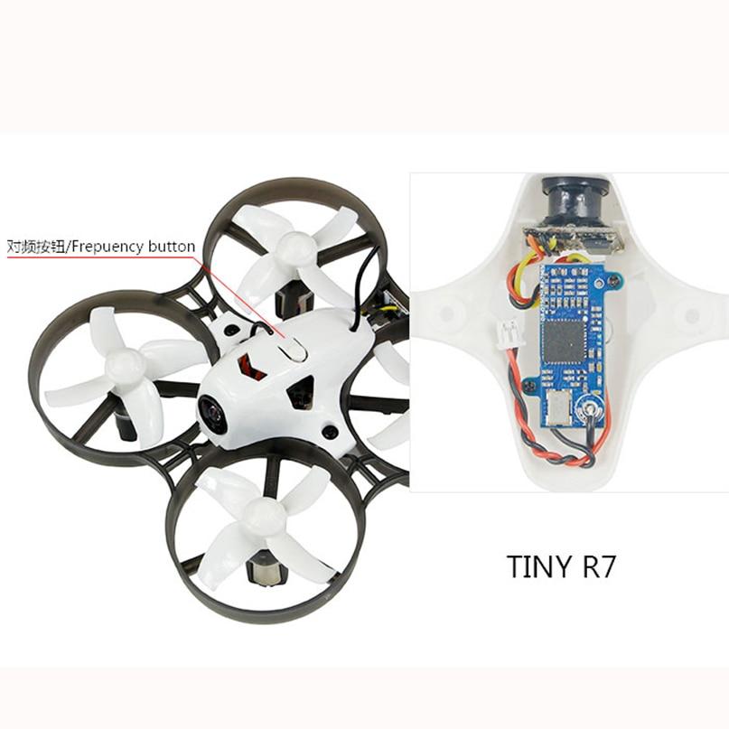 LDARC Q25G2H 5.8g 25 mw 16CH FPV VTX + 199C Combo & 800TVL 150 NTSC Mini Caméra & Canopy pour le BRICOLAGE Minuscule R7 Cri Inductrix RC Drone