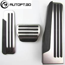 NO DRILL 2016-2018 Car Gas/Fuel Brake Foot Rest Pedal Pad Cover For Infiniti Q50 Q50L Q60 Q70 QX70 QX50 QX60 no drill 2pcs fuel gas brake foot pedal pad plate set for jaguar xf 2009 2015