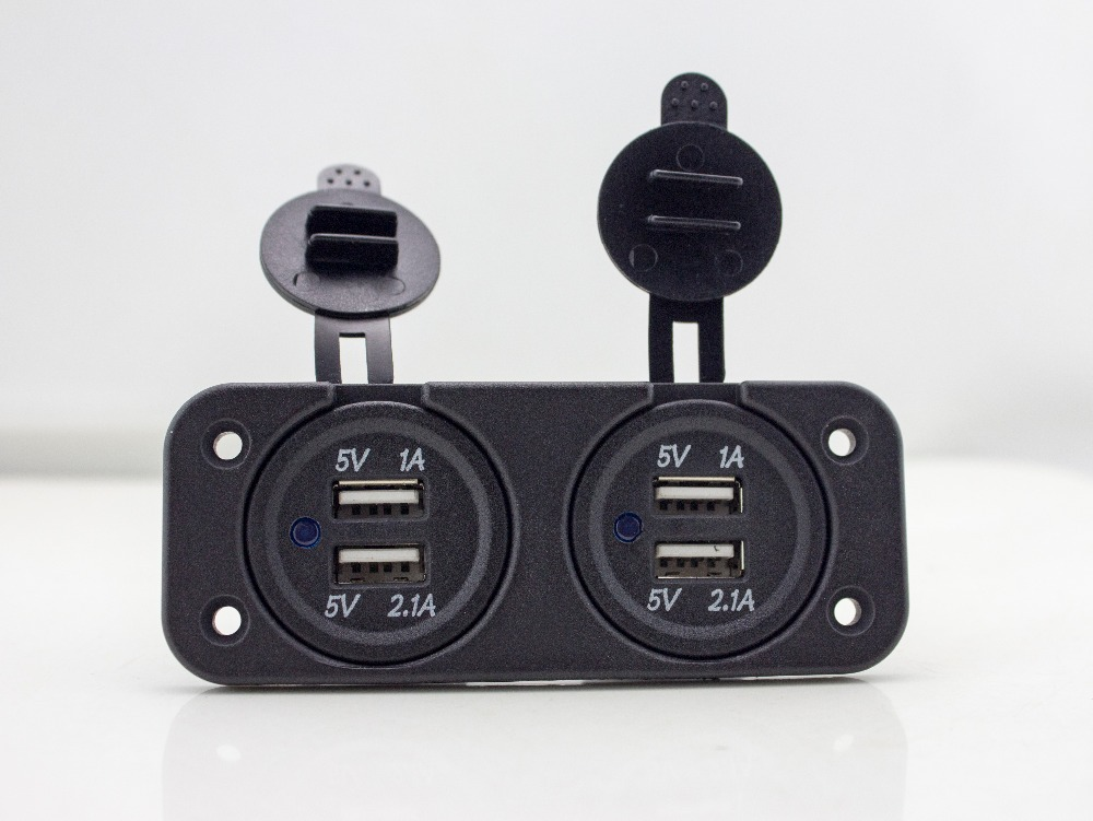 Cheap 2 Dual Usb Ports Car Charger For Motorcycle Scooter