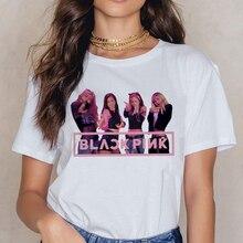 Blackpink Kill This Love T Shirt Women Harajuku LISA ROSE JISOO JENNIE 90s T-shirt Ullzang Cartoon