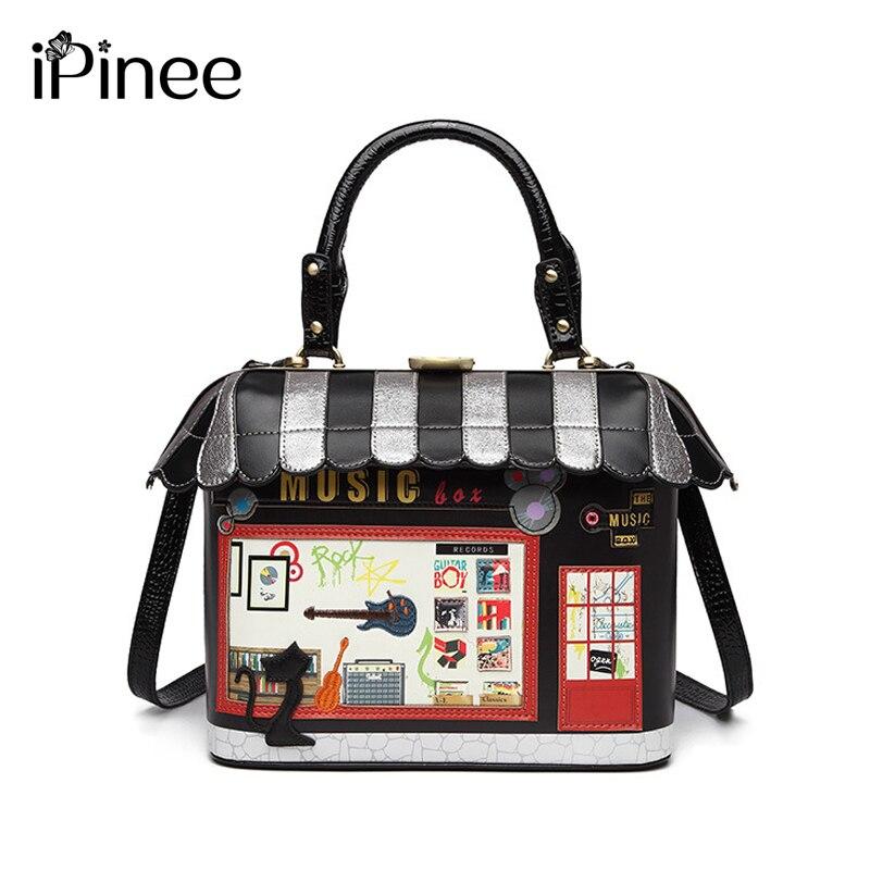 IPinee 2019 กระเป๋าสะพายสตรีอิตาลี Braccialini กระเป๋าถือสไตล์ Retro Handmade Bolsa Feminina Ladies House รูปกระเป๋า-ใน กระเป๋าหูหิ้วด้านบน จาก สัมภาระและกระเป๋า บน AliExpress - 11.11_สิบเอ็ด สิบเอ็ดวันคนโสด 1