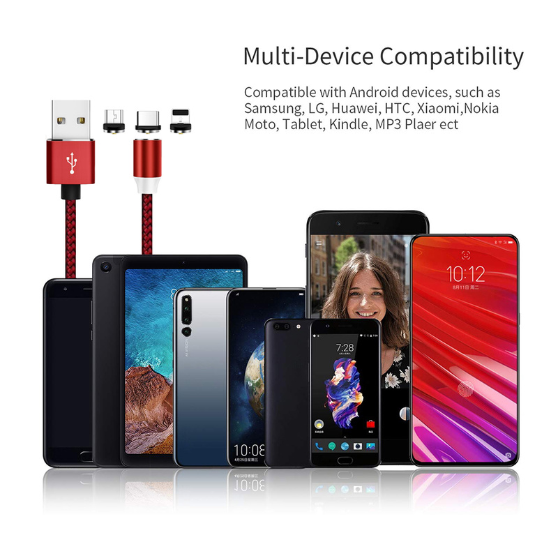 Micro Magnetic USB Fast Charger Cable for Samsung Type C for iphone Usb Kabel Fast Charging Oplader Microusb Kabel for Android