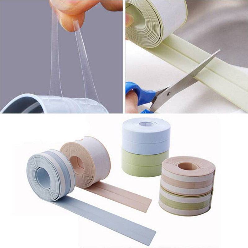 Joint Crevice 3Colours Adhesive Tape PVC Corner Line Sticking Strip Waterproof Mildew Proof Kitchen Sink Nordic Style