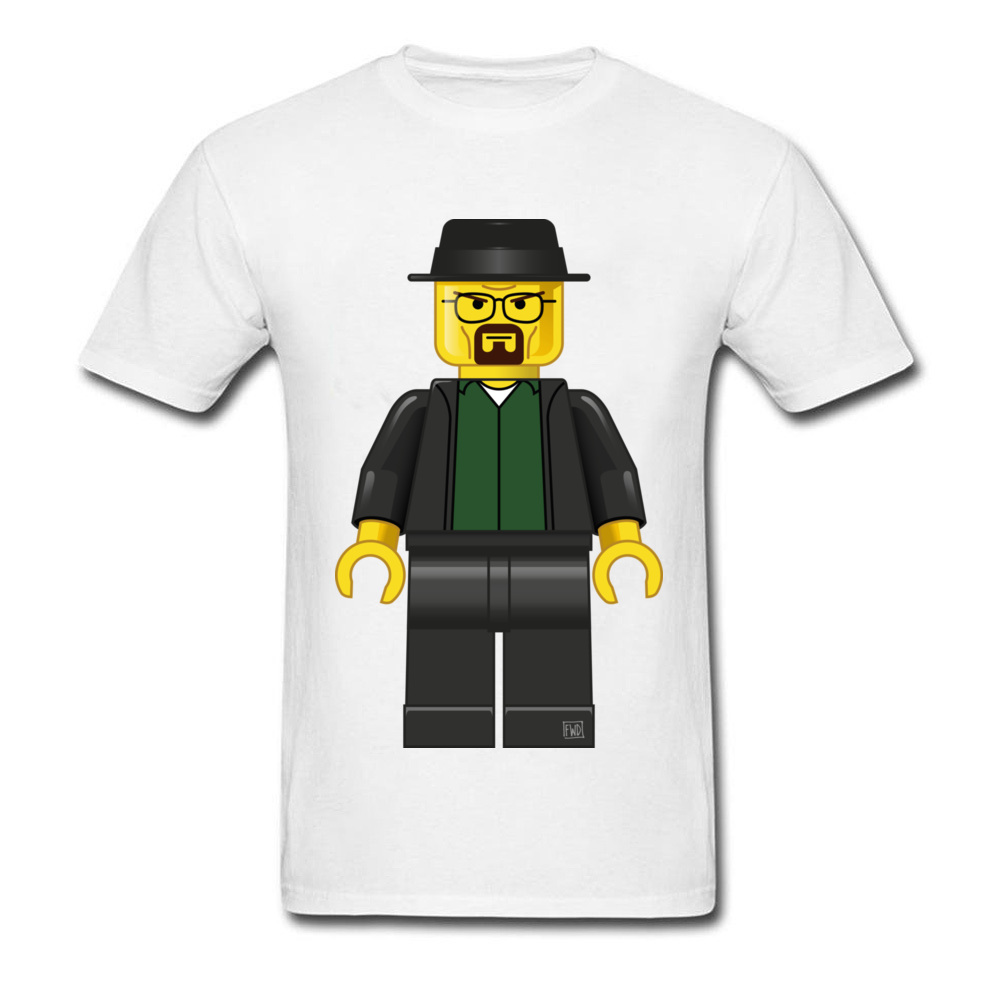 Breaking Bad футболка студент Lego Уолтер Уайт натуральный хлопок регулярно показывают футболка плюс Размеры 3XL Мультфильм Аниме футболки свитер