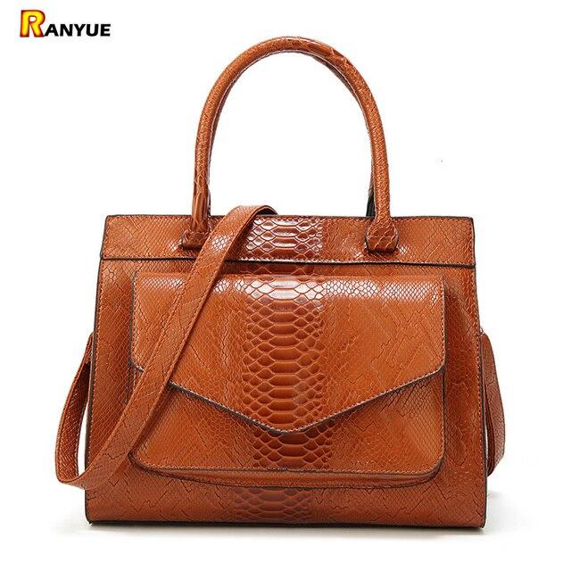 Luxury Snake Women s Bag Serpentine Pu Leather Bags Handbags Women Famous  Brand 2018 Designer Tote Bags 05c967cf36bc8