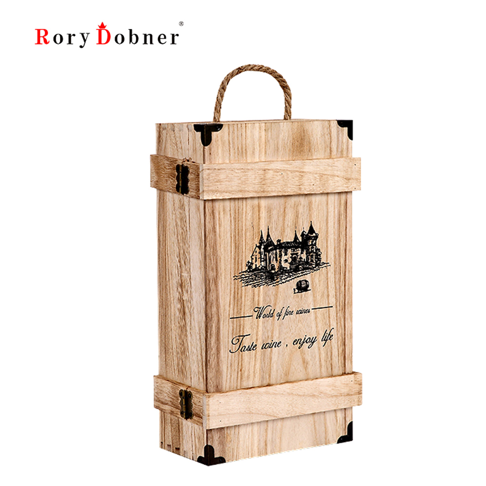 embalaje caja de vino botella de vino caja de regalo vino de madera al por