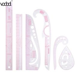 VODOOL 6pcs/set DIY Clothing Sample Grading Sewing Tailor Rulers Curve Cutting Multifunctional Plastic Patchwork Rulers