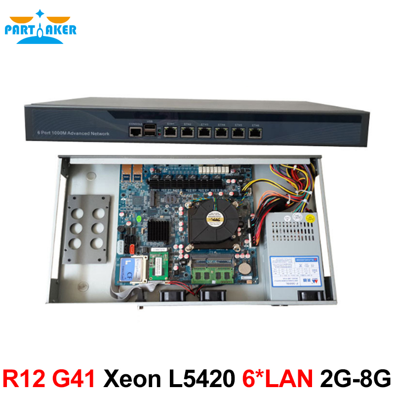 Intel Quad Core Xeon L5420 Firewall Security Appliance Ros Router with 6* Intel 82583V Gigabit Ethernet 2G RAM 8G SSD network security solution 1u router with two sfp intel i350 six 82583v gigabit lan intel quad core i7 3770 3 4ghz 2g ram 8g ssd