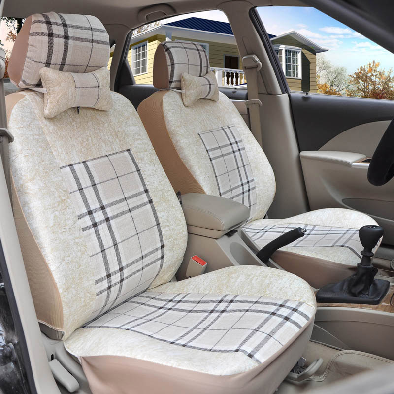Yuzhe flax Universal car seat covers For Toyota RAV4 PRADO Highlander COROLLA Camry Prius Reiz CROWN yaris accessories styling high quality linen universal car seat covers for toyota corolla camry rav4 auris prius yalis car accessories cushions styling