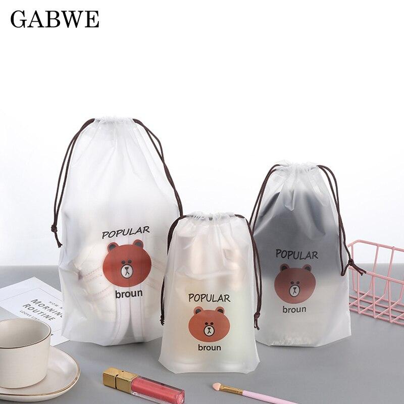 GABWE Makeup-Case Storage-Pouch Cosmetic-Bags Beaut-Kit Bath-Organizer Toiletry Transparent Brown