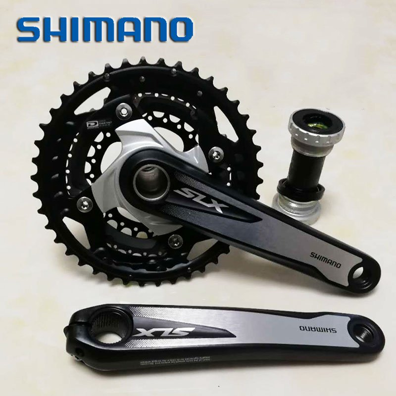 175mm Shimano SLX Triple 10 Speed Chainset 42/32/24t Including Bottom Bracket FC-M670 bike crank set bicycle crankset шатуны mtb fsa gravity extreme bash 36 24t 175mm