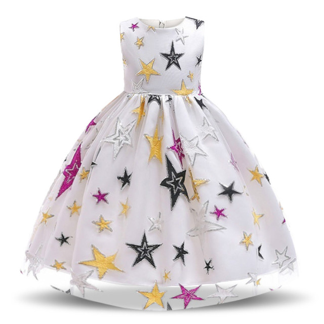 Star and Snow Party Dresses for Girl