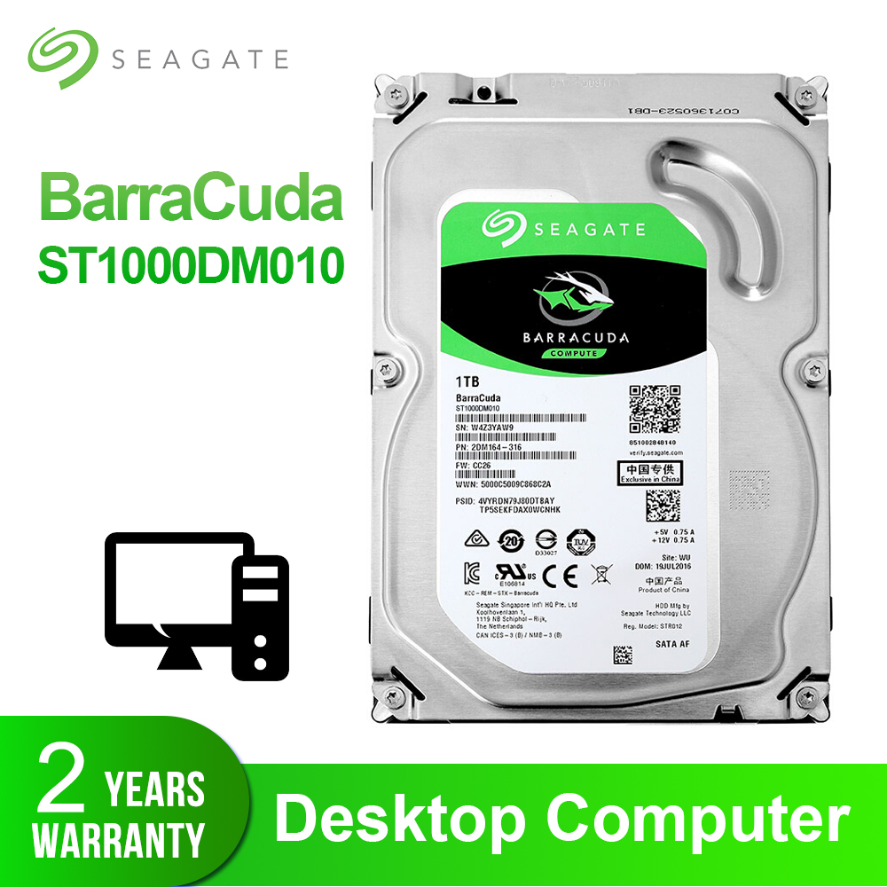 Seagate 1TB 3 5 Desktop HDD Internal Hard Disk Drive 7200 RPM SATA 6Gb s 64MB