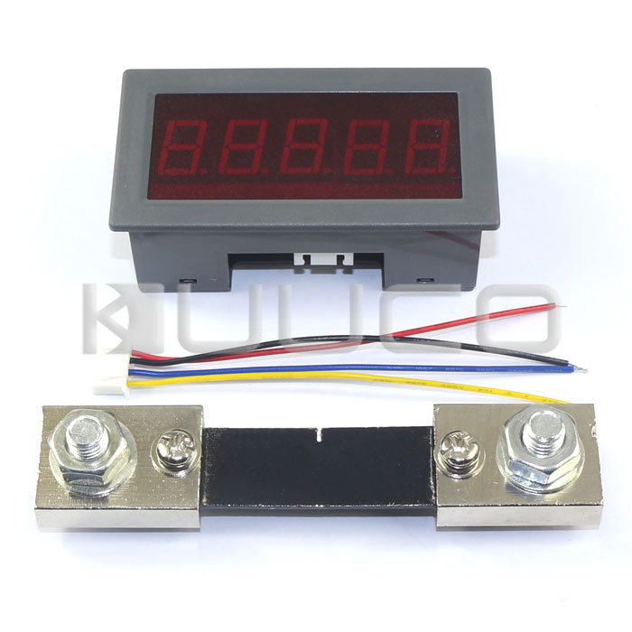 "Digital Tester +/- 0 ~ 100A Digital Ammeter High Accuracy Ampere Meter 0.56"" Red Led Display Panel Meter + Resistive Shunt"