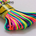 19colors Soft Satin Rattail Silk Macrame Cord Nylon  For Diy Bracelet Necklace Jewelry Findings AccessoriesOSL070