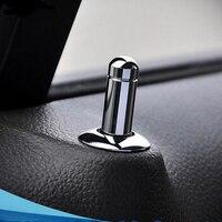 Hightling Plating Door Lock Stick Pin Cap Set Holding 8PCS For Chevrolet Cruze TRAX Malibu Buick